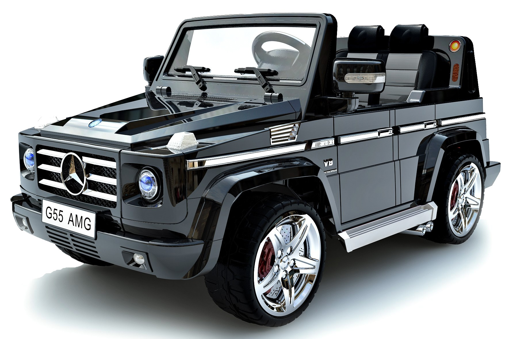 Licensed mercedes benz g55 amg kids car 70w motor 12v for Mercedes benz kids car